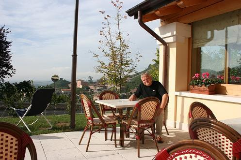 Marco Zane op het terras van La Calisella